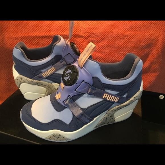 06f02697f2f Sophia Chang Puma Trinomic Disc Wedge Sneakers